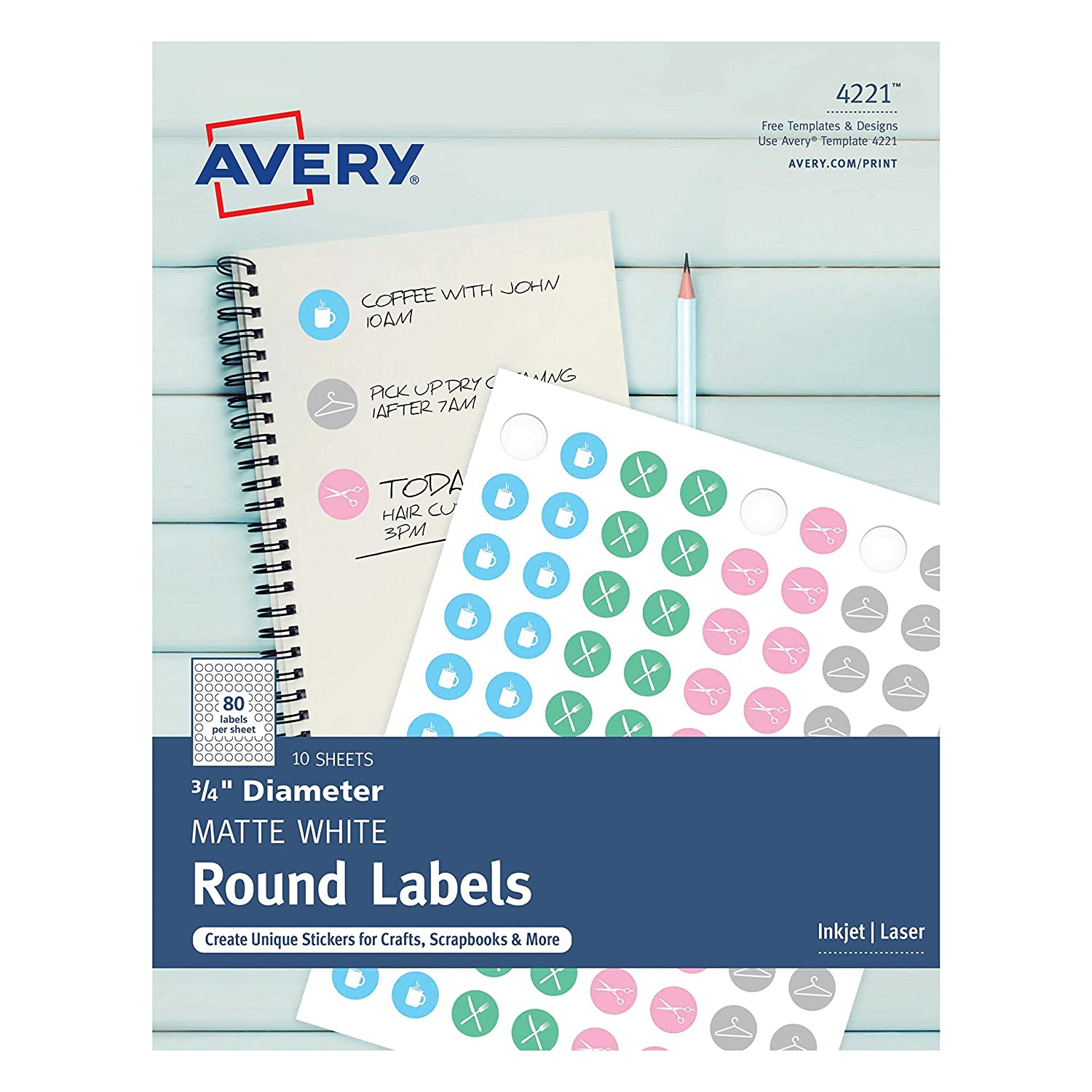 Amazon Avery Matte Print To The Edge Round Labels 34