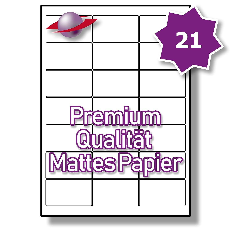 21 Pro Blatt, 50 50 50 Blätter, 1050 Etiketten. Label Planet® A4 Matt Weiß Premium Papier Etiketten Für Tintenstrahl und Laserdrucker 63.5 x 38.1mm, LP21 63 MPQ. 48f26d