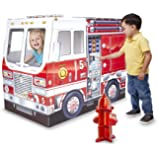 Melissa & Doug Fire Truck Indoor Corrugate Cardboard Playhouse (4' Long)