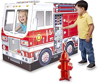Melissa u0026 Doug Fire Truck Indoor Playhouse  sc 1 st  Amazon.com & Amazon.com: SpringBuds Fire Truck Kids Play Tent Indoor Outdoor ...