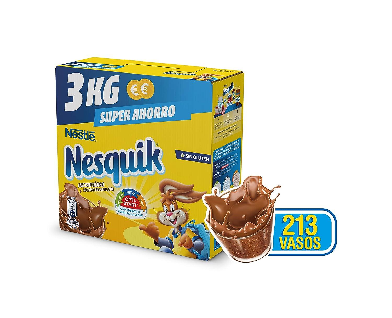 NESQUIK - Nestle Cacao Instantaneo Estuche 3 Kg: Amazon.es: Alimentación y bebidas