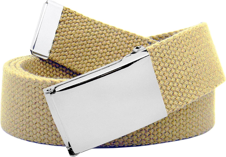 Cintura in tela classica in stile militare con fibbia a scatto colore argento da uomo
