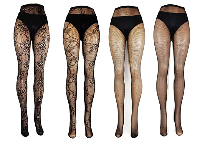 a3a80c6c99f Image Unavailable. Image not available for. Color  Women s 4 Pack Fishnet  Sexy Pantyhose
