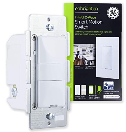 ge enbrighten z-wave plus smart motion light switch, on/off, vacancy