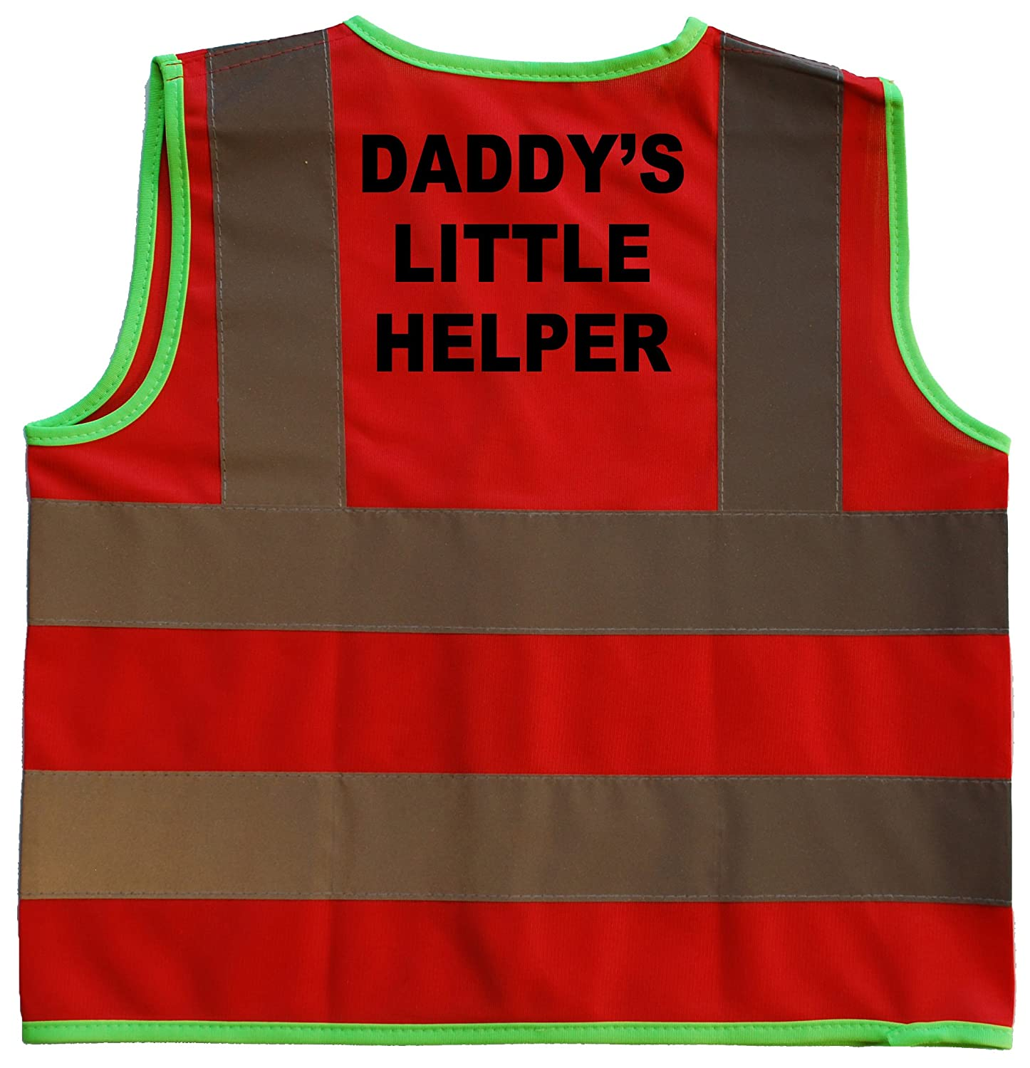 Daddy's Little Helper Baby/Children/Kids Hi Vis Safety Jacket/Vest Sizes 0 to 8 Years Optional Personalised On Front