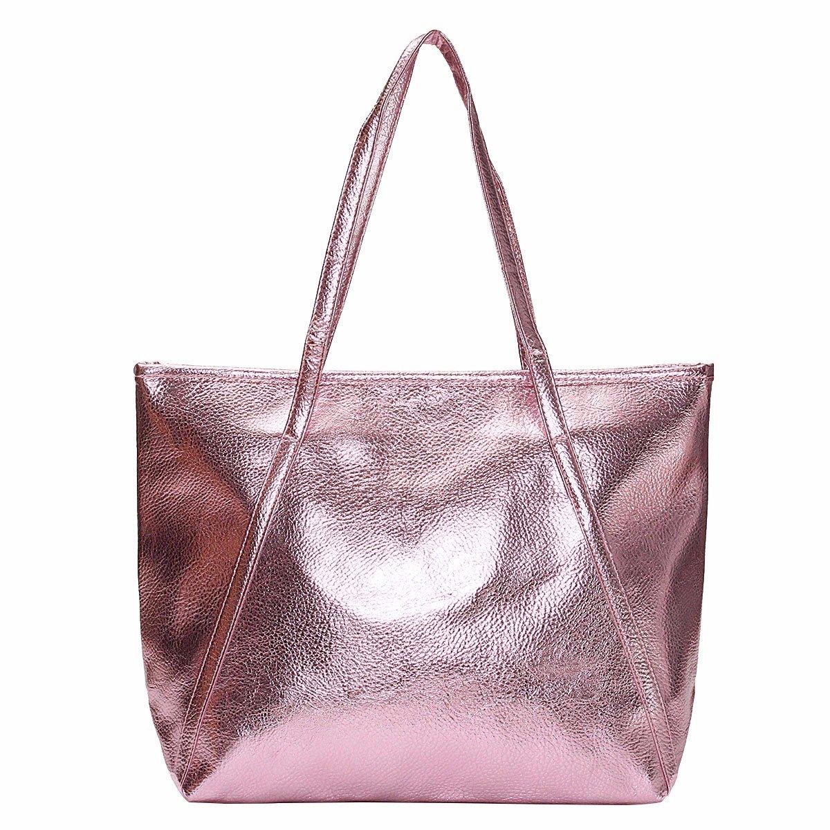 Women's Tote Handbags - OURBAG Large Fashion Designer Elegant Shoulder Bag Purses for Ladies Pink by OURBAG