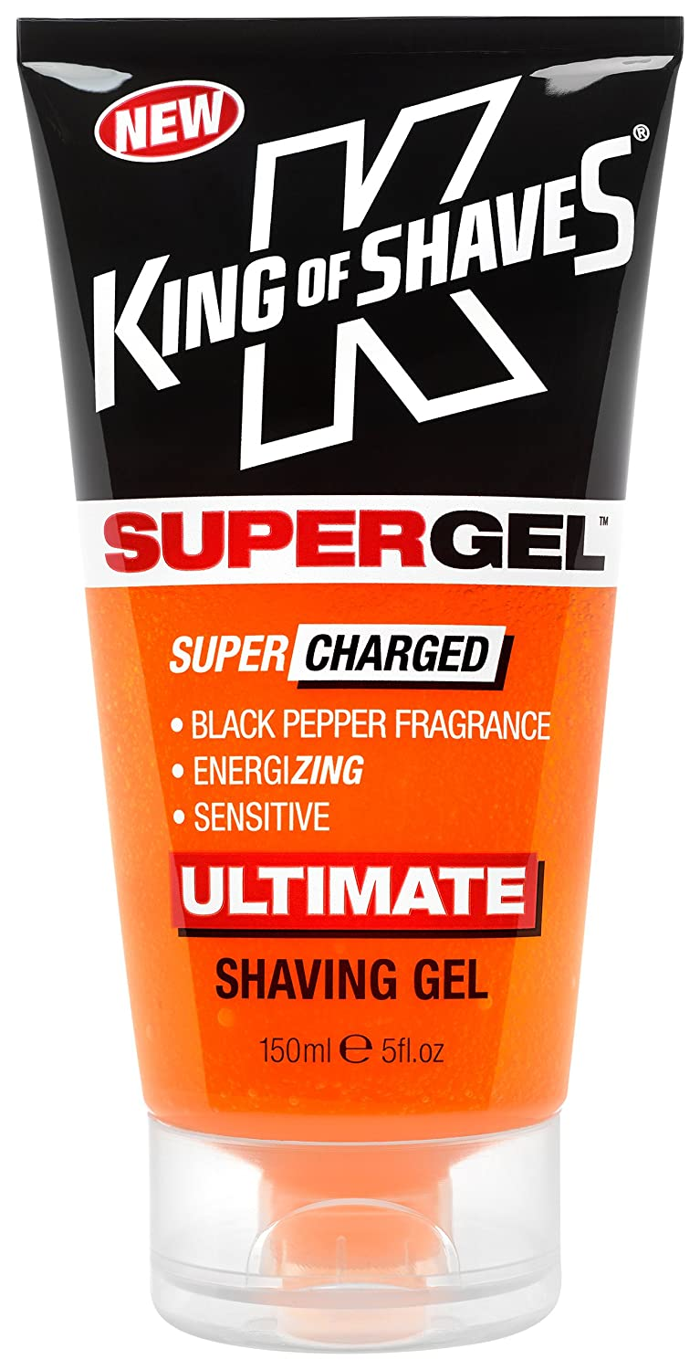 King of Shaves SuperGel Supercharged Black Pepper Shaving Gel 150ml HealthCenter 2KS-120187