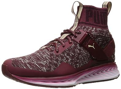 PUMA Men's Ignite Evoknit Fade Cross-Trainer Shoe, Cabernet/Winetasting/Oatmeal, 11 M US