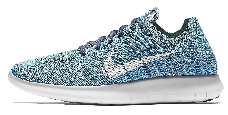 Nike Women's Free Rn Flyknit 2017 Running Shoes B01HNIWYDC 7.5 B(M) US Ocean Fog/White-blue Glow-hyper Jade