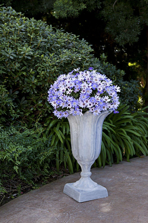 Amedeo Design ResinStone 2511-4L Tulip Urn, 13 by 13 by 22-Inch, Limestone