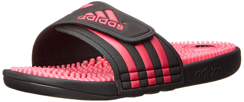 adidas Women's Adissage W Slide Sandal B00LLWCOBY 9 B(M) US Black/Pink/Black