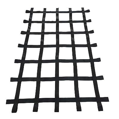 Fong 6 ft X 4 ft Climbing Cargo Net Black (72 inch x 48 inch) - Playground Cargo Net - Climbing Net for Swingset - Indoor Climbing Net - Climbing Ladder: Toys & Games