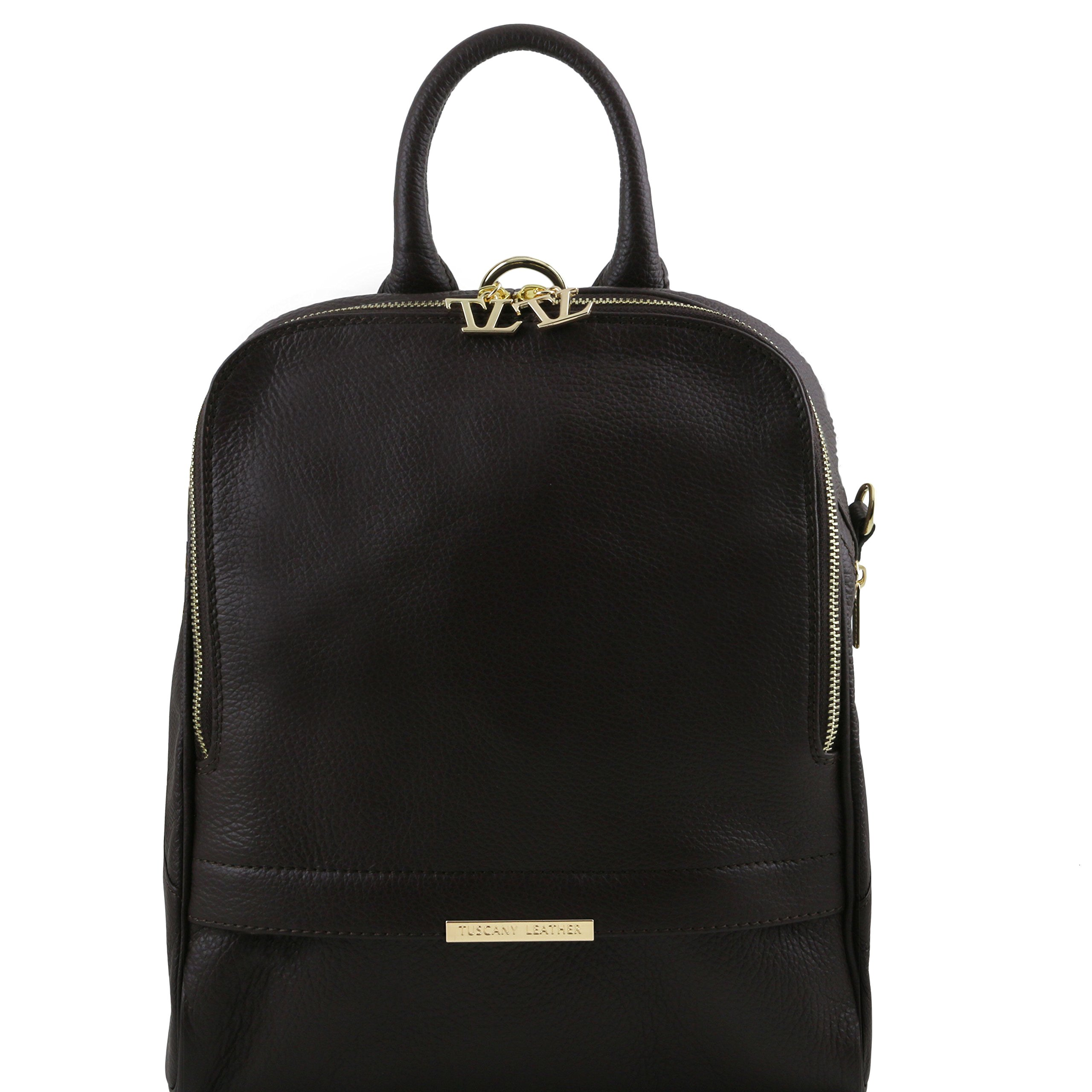 Tuscany Leather TLBag Soft leather backpack for women Black