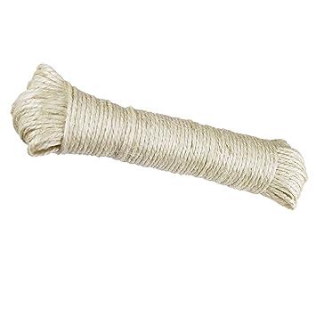 30 metros Natural Sisal cuerda, cuerda. Sisal cuerda también para rascador, gato algodón. Producto natural: Amazon.es: Productos para mascotas