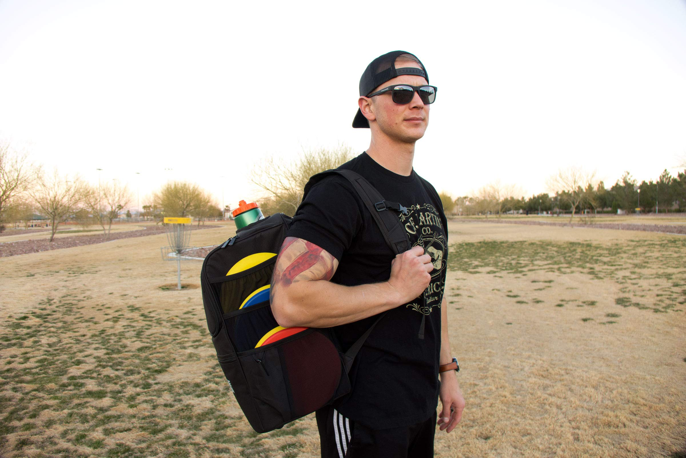Rogue Iron Disk Golf Backpack & Cooler (Black) by Rogue Iron Sports (Image #4)