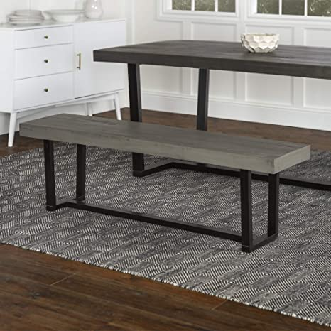 Fabulous We Furniture Az60Swdgy Dining Bench 60 Grey Uwap Interior Chair Design Uwaporg