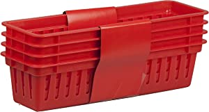 Home Basics PB40233-RED Basket, Red, 4-Pack