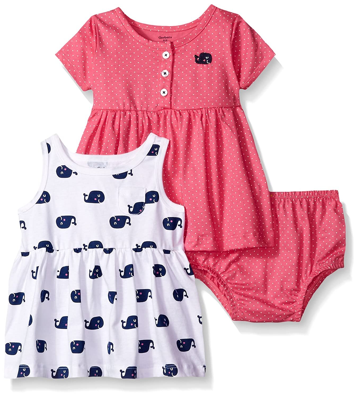 Amazon Com Gerber Baby And Little Girls Dress Set Clothing
