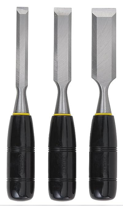 Stanley 16-150 150 Series Short Blade 3-Piece Wood Chisel Set