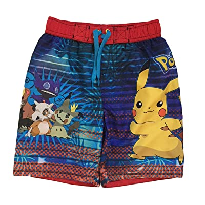 Dreamwave Pokemon Big & Little Boys Swim Trunks