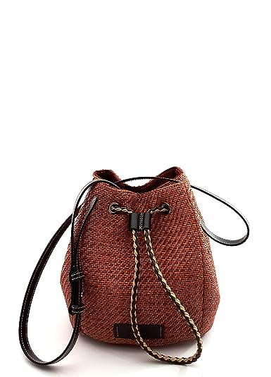 3c27b87cfef41 DIMONI Bolso Bandolera Trenzado y Piel Mujer Made in Spain  Amazon.es   Zapatos y complementos
