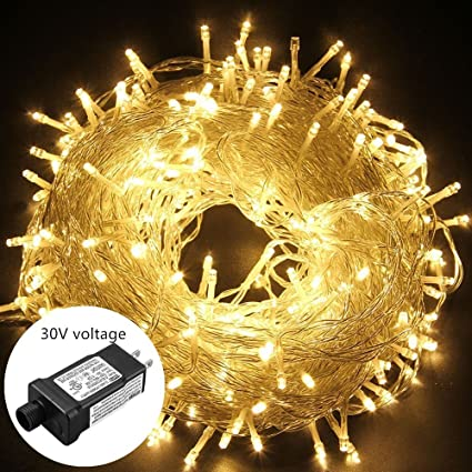 oulins led string lights outdoor christmas lights 30v 8 modes 200led 82ft fairy string lights for