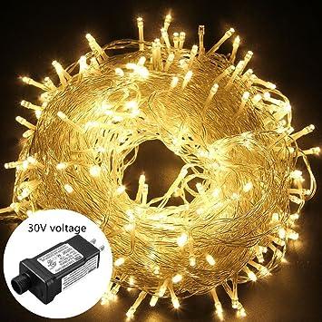 oulin's Led String Lights Outdoor Christmas Lights 30V 8 Modes 200LED 82ft  Fairy String Lights for - Amazon.com : Oulin's Led String Lights Outdoor Christmas Lights 30V