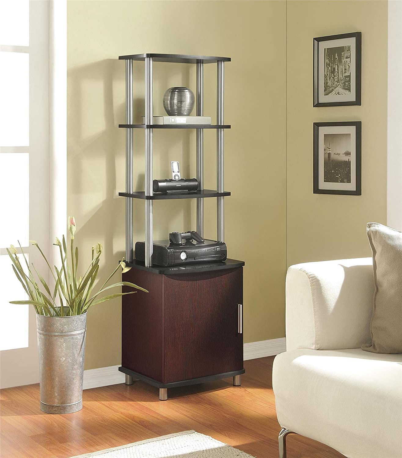 Good Amazon.com: Ameriwood Home Carson Audio Stand, Cherry/Black: Kitchen U0026  Dining