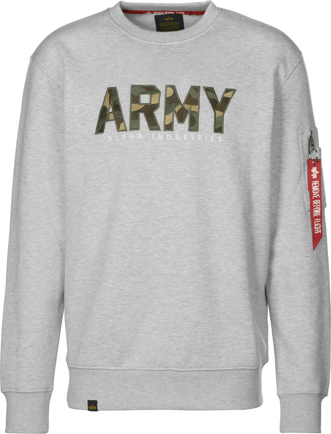 Alpha Industries Army Camo Sweatshirt Grau Grün L