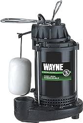WAYNE CDU800 1/2 HP Submersible Cast Iron and Steel Sump Pump