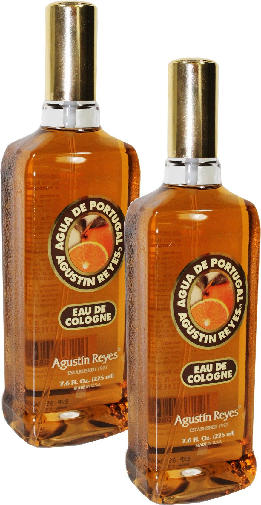 Agua de Portugal by Agustin Reyes. Pack of 2 Spray 7.6 oz bottles by Judastice