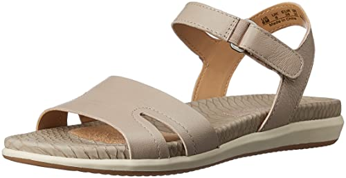 d9805bd88119 Naturalizer Women s Selma Grey Leather Fashion Sandals - 8 UK India (41 EU)