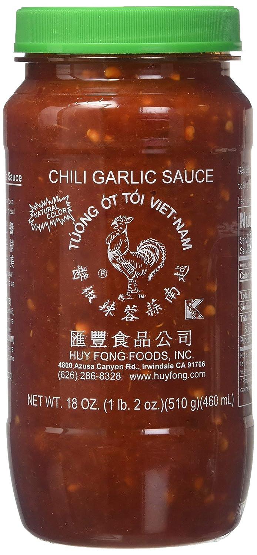 Huy Fong Sauce Chili Garlic,18 oz, 4 Pack