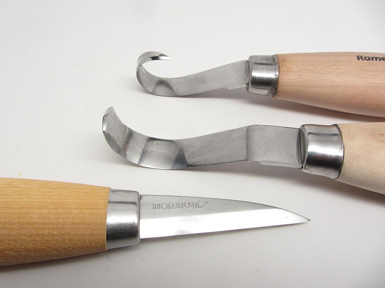 Bundle Ramelson Scorp Wood Carving & Morakniv 122 Carving Camping Bowl Carving Golra