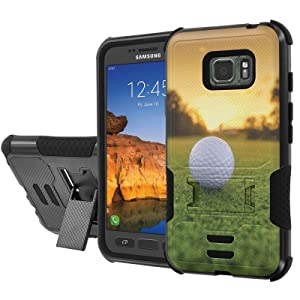 [AT&T] Galaxy [Active S7] Armor Case [NakedShield] [Black/Black] Urban Shockproof Defender [Kick Stand] - [Gold Sunset] for Samsung Galaxy [S7 Active]
