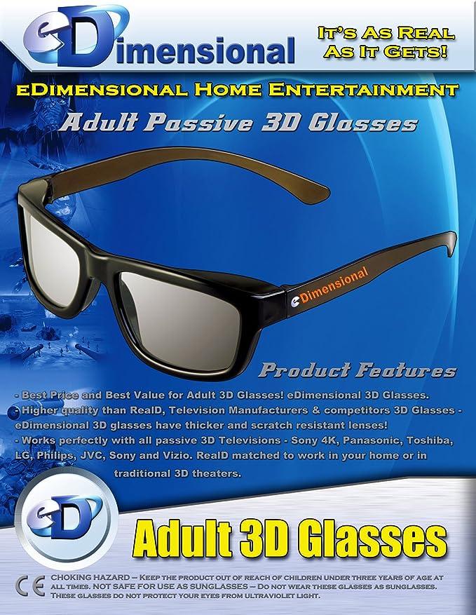 Passive 3D Glasses Polarized Lenses TV Real D 3D Cinemas for Sony Panasonic GL