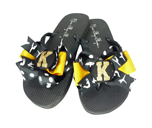 ffabf0310daab Image Unavailable. Image not available for. Color  Gymnastics Glitter Bow  Flip Flops- ...