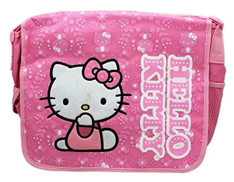 Image Unavailable. Image not available for. Color  Sanrio s Hello Kitty  Fuzzy Character Patch Light Pink Floral Kids Messenger Bag 5d6b86097ce4c