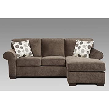 Amazon.com: SOFA TRENDZ Cleo Grey Polyester Reversible Sofa ...
