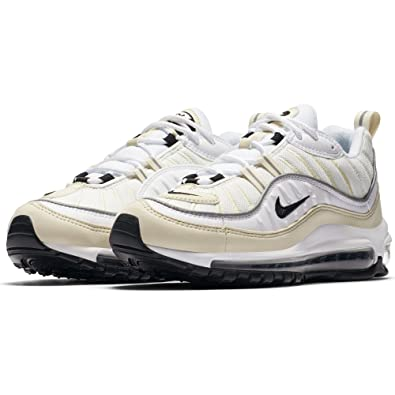 Nike W Air Max 98  Chaussures Multicolore De Fitness Femme  Multicolore Chaussures (White 23634b