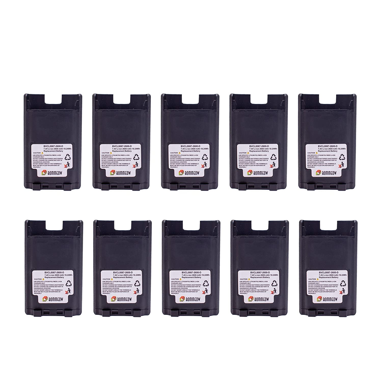 10 Pack Bommeow BVCL0087-2600-D Replacement Battery for Vertex VX-820 VX-920 VX-970 Series VX-821 VX-824 VX829 VX-929 81EBKY7dHwL