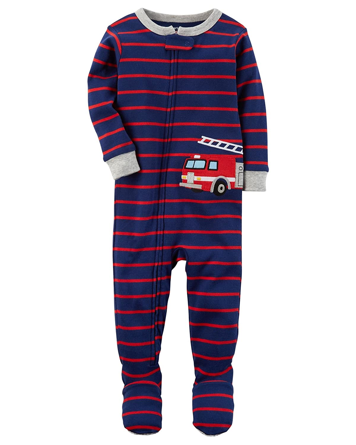 Carter's Baby Boys' 2T 5T One Piece Snug Fit Cotton Pajamas 2T Red Firetruck