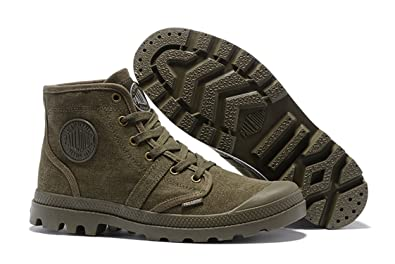 6fc7c6cca3 Amazon.com | Army Green Comfortable Ankle Boots Lace up Canvas Men ...