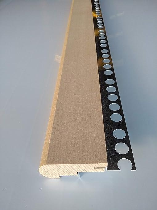 Mamperlán perfil madera Haya para peldaño y escalera C2 (1,00 MT ...