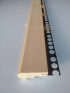 Mamperlán perfil madera Haya para peldaño y escalera C2 (Esquina Dcha): Amazon.es: Bricolaje y herramientas