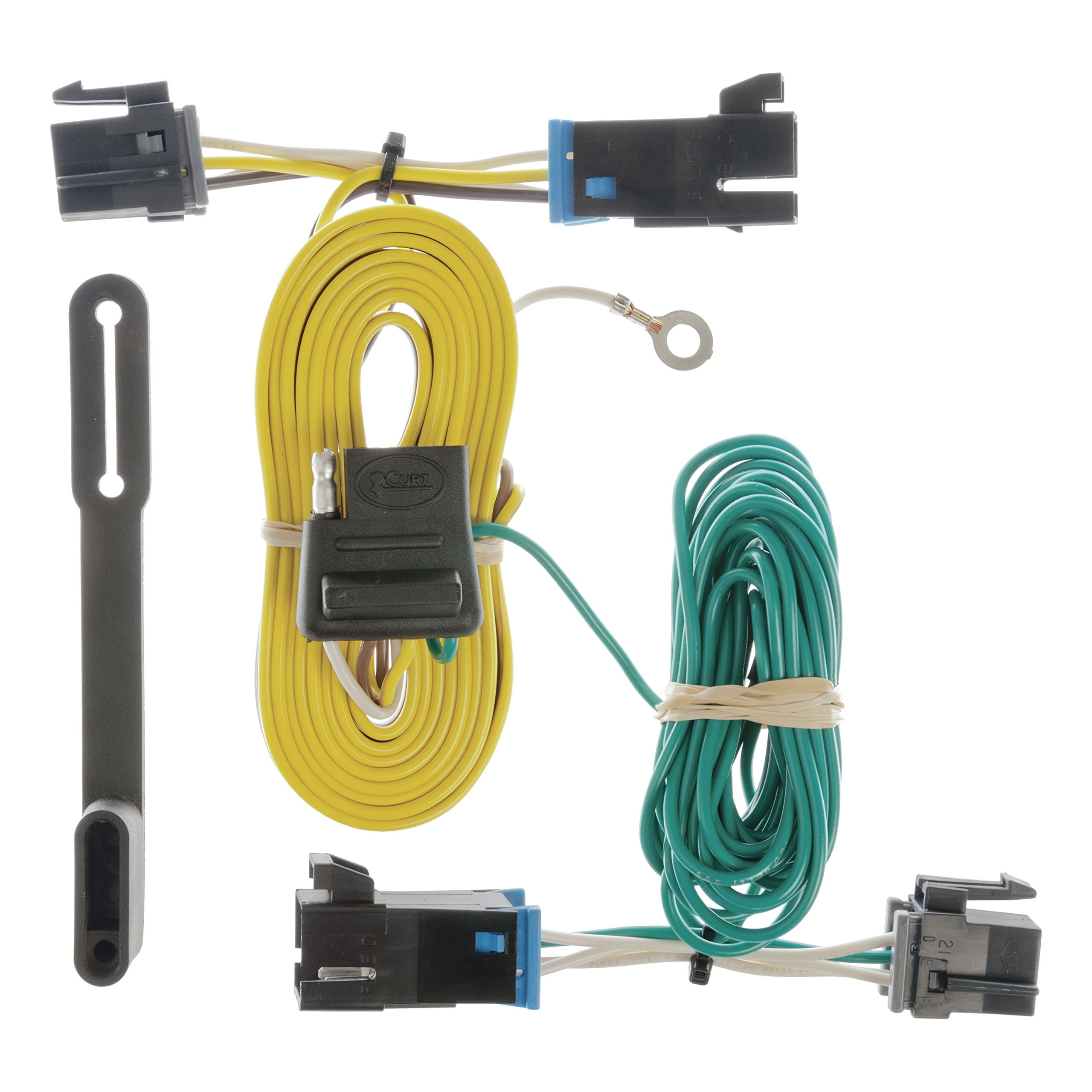 CURT 55540 Vehicle-Side Custom 4-Pin Trailer Wiring Harness for Select Chevrolet Express, GMC Savana by CURT