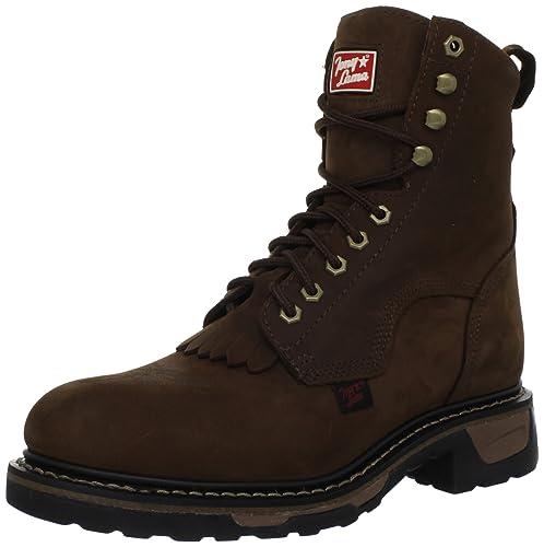 8028c2c22b6 Tony Lama Boots Men's Steel Toe Lacer TW2004 Work Boot