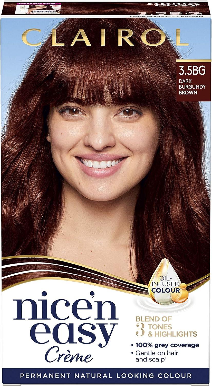 nne Clairol nice-n-easy color del pelo, 3.5bg Borgoña oscuro marrón
