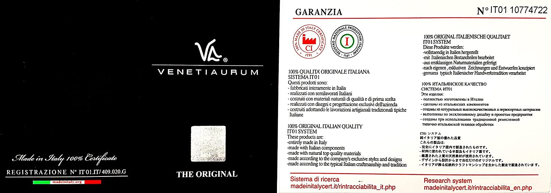 Murano glass and 925 silver woman earrings Made in Italy Venetiaurum