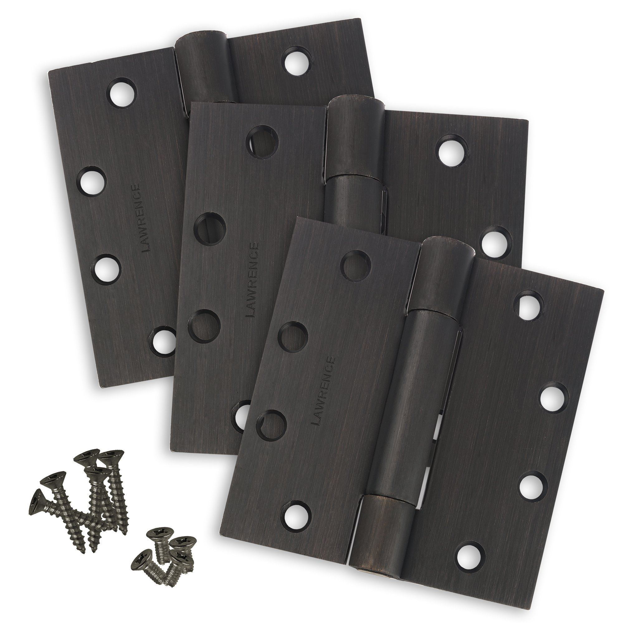 Commercial Door Hinges, Standard Weight Butt Hinge, 4.5 x 4.5, Lawrence Hardware